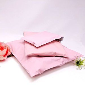 50 pastel pink designer 6x9 poly mailers